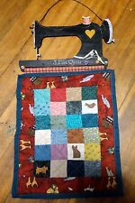 PATCHWORK WALL HANGER - I LOVE QUILTS