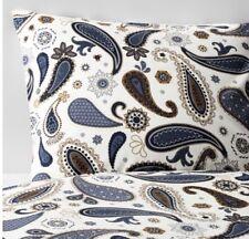 IKEA sotblomster, Parure de couette double, 200 x 200 cm, Blanc, Bleu, 4 taies d'oreiller HAPPY