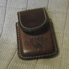 Estate Sale ~ Leather Advertising Lighter Belt Pouch - Camel
