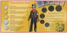 GN368 - Österreich KMS Mint Set 2000 Hdgh Schilling Kursmünzsatz Handgehoben