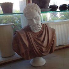 BUSTO CM 75 IN VERO MARMO STATUA BUSTI PIETRA Classic Marble Sculpture MOD013
