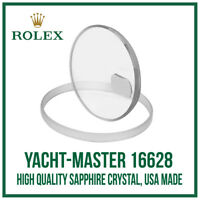 ♛ Sapphire Glass Crystal USA Made. High Quality For Rolex Yacht-Master 16628 ♛
