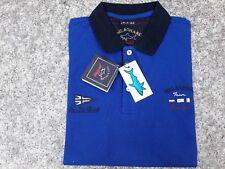 Paul Shark Hommes Polo-Shirt Bleu T L