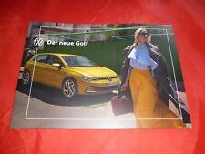 VW Golf 8 VIII 2020 Prospekt Brochure Depliant von 2019