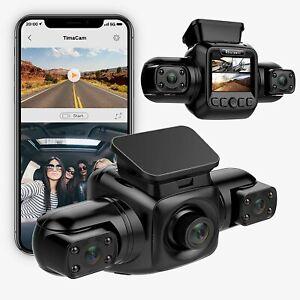 Dashcam Autokamera Vorne Hinten 1080P WiFi, Nachtsicht, G-Sensor, Loop-Aufnahme