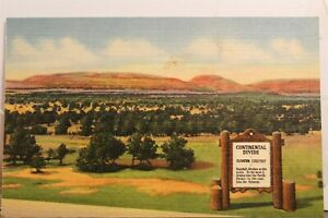 New Mexico NM Gallup Red Rocks Continental Divide Postcard Old Vintage Card View