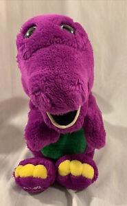 "VINTAGE 1992 Dakin Barney The Purple Dinosaur Soft Plush Hand Puppet 14"""