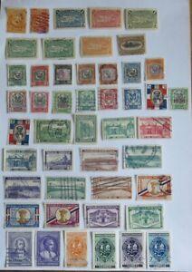 Briefmarken Dominikanische Republik bis 1949 auf 2 Seiten