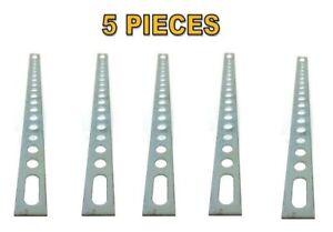 """5 Pcs 9"""" Multi Purpose Metal Back Strap Bracket Secure Mount Car Radio"""