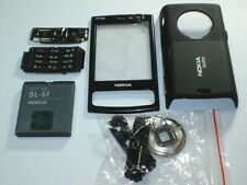 New nokia  n95  8gb cover  keypad housing fascia set +new battery  black colour