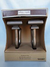 Allen & Roth Curtain Holdback Pair Tie Back Square Holders Oiled Pewter #0333917