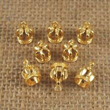 10pcs Golden Crowns Charms Pendants DIY Findings Craft Jewelry Making Accs