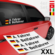 Autoaufkleber Name + Flagge Rally XXL 4er | DTM | Motorsport | Aufkleber Sticker
