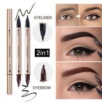 2Color Double Head Liquid Eye Liner Pen Pencil Waterproof Eyeliner Makeup 2 In 1