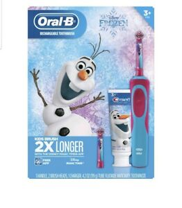 Oral-B Rechargeable Toothbrush Kids Frozen Gift Pack New w/ charger 3+