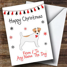 Jack Russell From Or To The Dog Pet Personalised Christmas Card