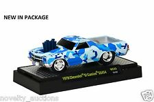 L40 82161 WC03  M2 MACHINE WILD CARDS 1970 CHEVROLET EL CAMINO SS454  1:64 BLUE