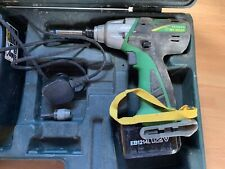 Hitachi 12daf Impact Driver Battery Gun With Torch And Case