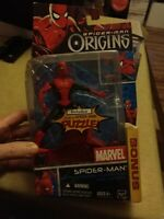 "Spider-Man 6"" action figure + BONUS - Spider-Man Origins 2006 Hasbro - NEW"