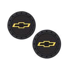 Chevy Logo Auto Cup Holder Coaster 2 PC Set Item