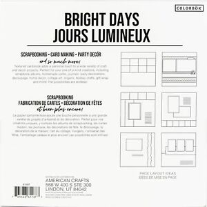 "Colorbok Textured Cardstock Pad 12""X12"" 30/Pkg-Bright Days"