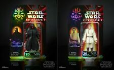 Star Wars celebración 20TH Negro Serie Obi-Wan Kenobi & Darth Maul Exclusivo