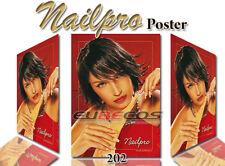 Poster Hochglanz Werbeplakat Naildeko Nailpro Nr.202 Lady in Red