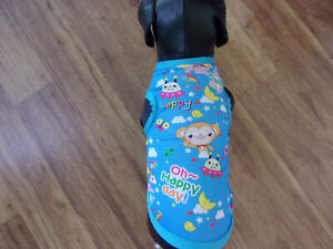 """dog shirt, tanktop,""""Oh Happy Day!"""" blue, XS (**read details of size)"""