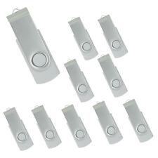 Lot 10 1GB USB Flash Drive 1G Memory Pen Key Stick Bulk Pack Wholesale White 03