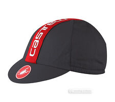 Castelli RETRO 3 Cycling Cap : Anthracite/Red