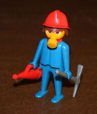 Playmobil personnage vintage pompier porte voix et pioche 3403 ref  mm