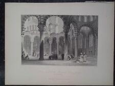 Court Yard Mosque of Sultan Osman Istanbul Turkey Steal Engraving Thomas Allom