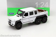 WELLY 2014 MERCEDES BENZ G 63 CLASS AMG 6 x 6 WHITE 1/24 DIECAST CAR  24061