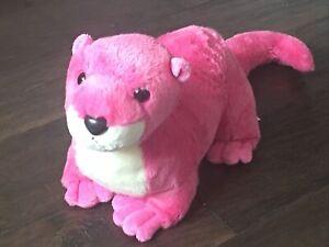 Aurora Destination Nation Pink River Otter Plush Stuffed Animal Toy Soft