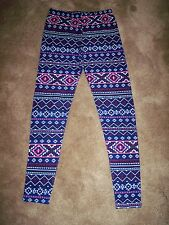 FLEECE LINED LEGGINGS ASSORTED SIZES BRAND NEW WITH TAGS GEOMETRIC DESIGN