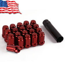20 Red Spline Tuner 12x1.5 Lug Nuts + Socket Key for Acura TL Honda Civic Accord