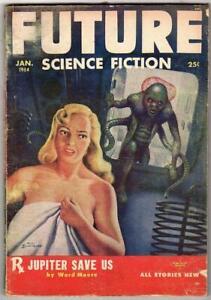 Future Science Fiction Jan 1954 Moore, Schomberg, Winterbotham, Budrys