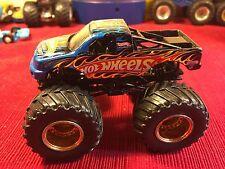 Hot Wheels MONSTER JAM Beat That Racing 4x4 Truck Blue Orange Flames