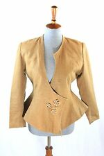 Vintage Herman Geist Women's 1-Button Asymmetrical Fit and Flare Blazer Jacket S