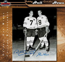 GORDIE HOWE AND BOBBY HULL Autographed NHL All Star 8x10 Photo - 70200