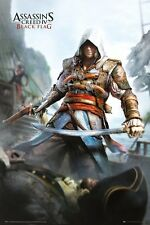 "ASSASSINS CREED 4 POSTER ""BLACK FLAG"" LICENSED ""BRAND NEW"" ASSASSIN'S"