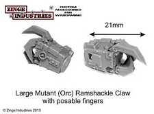 Zinge Industries 2 X Ramshackle Mechanical Claws Large Orks Heroic Scale S-MEL04
