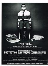 PUBLICITE  1972   CIE FRANCAISE CONTRE LE VOL protection éléctrique