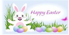 Happy Easter labels stickers cakes sweets gift bags party egg hunt Rabbit D2