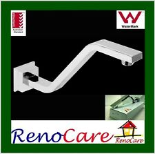 Sale 150mm High Square Gooseneck Wall Mounted Brass Chrome Shower Arm RC-6412
