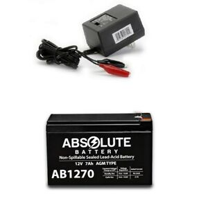 NEW AB1270 12V 7AH Replacement Battery for 385ci Portable Fish Finder & Charger