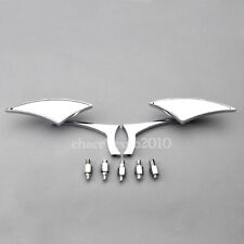 Chrome Motorcycle Cruiser Chopper view Side Mirrors For Yamaha Honda Harley #C3