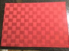 New listing Set of Four Dark Red Placemats