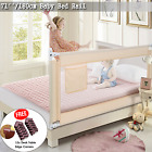 71''/180cm Toddler Bed Rail Guard Baby Safety Bedrails Swing Down Anti Falling
