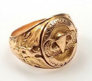 WWII U.S. Paratroopers, 11th Airborne Division, 14 K yellow gold ring! Sz 10!